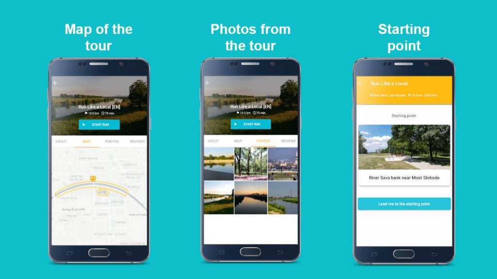 SightRun mobile app tours