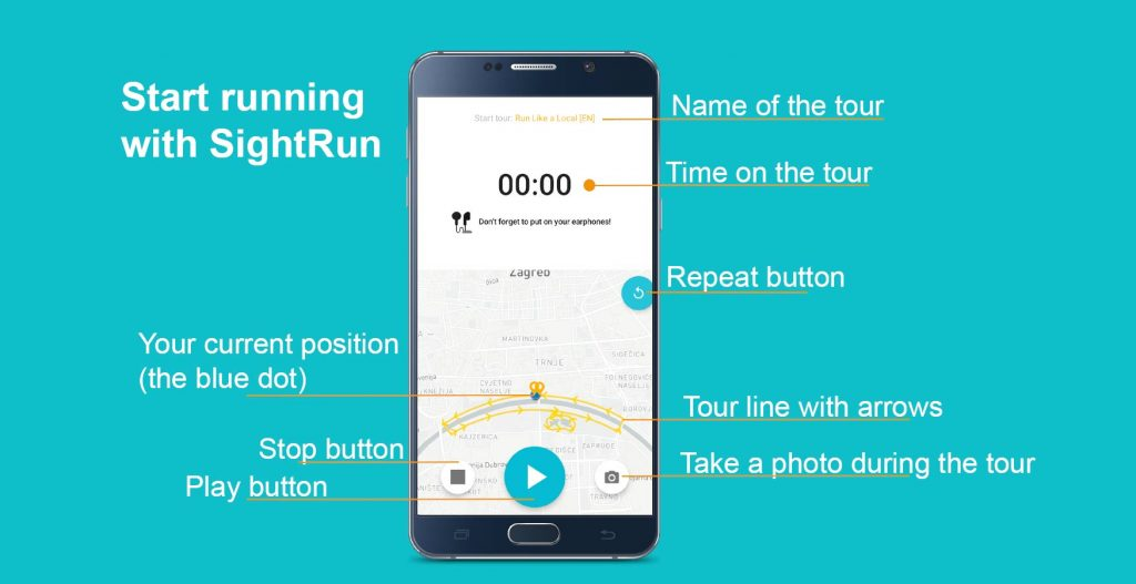 SightRun mobile app description