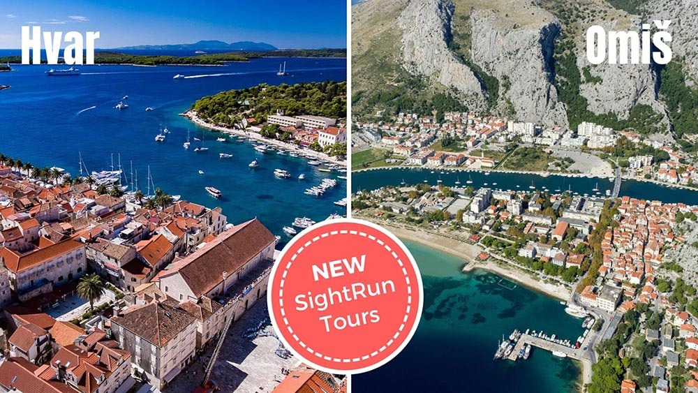 hvar and omis sight running tours