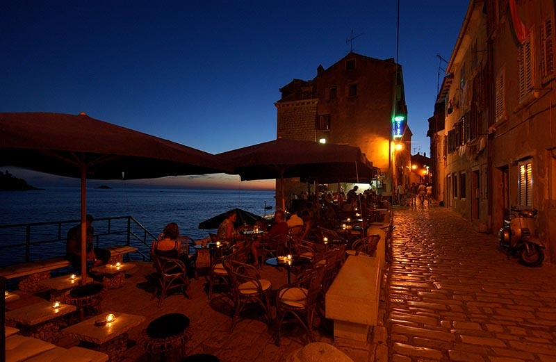 summer night in rovinj