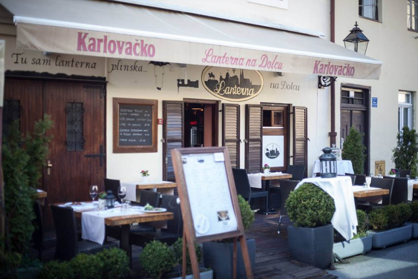 lanterna na dolcu, where to eat in zagreb